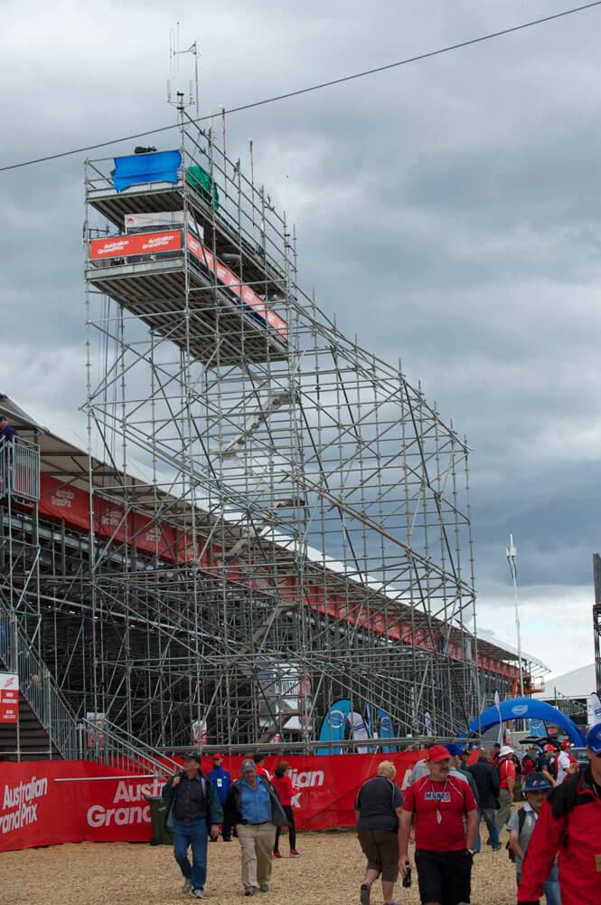 event scaffolding system albert park grand prix