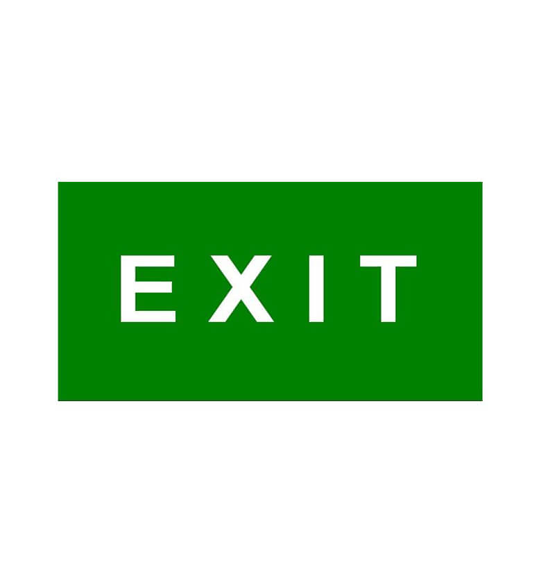 miscellaneous exit signs