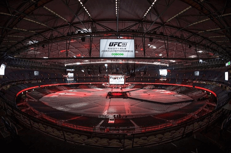 Supa-Trac at Etihad for UFC